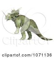 Clipart 3d Prehistoric Ceratopsian Styracosaurus Dinosaur Rearing In Profile 1 Royalty Free CGI Illustration by Ralf61