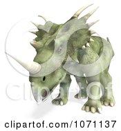 Clipart 3d Prehistoric Ceratopsian Styracosaurus Dinosaur 3 Royalty Free CGI Illustration by Ralf61