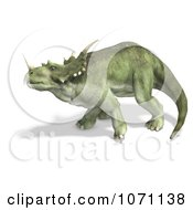 Clipart 3d Prehistoric Ceratopsian Styracosaurus Dinosaur In Profile 3 Royalty Free CGI Illustration by Ralf61