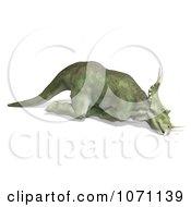 Clipart 3d Prehistoric Ceratopsian Styracosaurus Dinosaur Dying 2 Royalty Free CGI Illustration by Ralf61