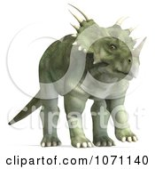 Clipart 3d Prehistoric Ceratopsian Styracosaurus Dinosaur 6 Royalty Free CGI Illustration by Ralf61