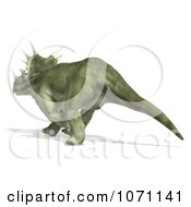 Clipart 3d Prehistoric Ceratopsian Styracosaurus Dinosaur Walking Away Royalty Free CGI Illustration by Ralf61