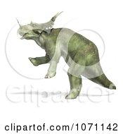 Clipart 3d Prehistoric Ceratopsian Styracosaurus Dinosaur Rearing In Profile 2 Royalty Free CGI Illustration by Ralf61