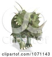 Clipart 3d Prehistoric Ceratopsian Styracosaurus Dinosaur 4 Royalty Free CGI Illustration by Ralf61
