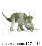 Clipart 3d Prehistoric Ceratopsian Styracosaurus Dinosaur 13 Royalty Free CGI Illustration by Ralf61