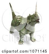 Clipart 3d Prehistoric Ceratopsian Styracosaurus Dinosaur 7 Royalty Free CGI Illustration by Ralf61