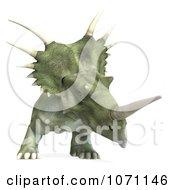 Clipart 3d Prehistoric Ceratopsian Styracosaurus Dinosaur 8 Royalty Free CGI Illustration by Ralf61
