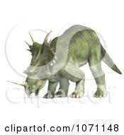 Clipart 3d Prehistoric Ceratopsian Styracosaurus Dinosaur 12 Royalty Free CGI Illustration by Ralf61