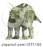 Clipart 3d Prehistoric Ceratopsian Styracosaurus Dinosaur 1 Royalty Free CGI Illustration