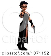 Clipart 3d Female Agent Holding Two Revolvers 1 Royalty Free CGI Illustration by Ralf61