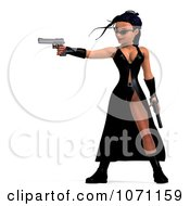 Clipart 3d Female Agent Holding Two Revolvers 7 Royalty Free CGI Illustration by Ralf61