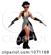 Clipart 3d Female Agent Holding Two Revolvers 2 Royalty Free CGI Illustration by Ralf61