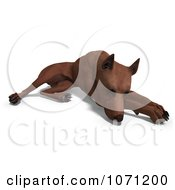 Clipart 3d Miniature Pinscher Dog Resting Royalty Free CGI Illustration by Ralf61