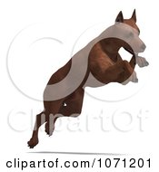 Clipart 3d Miniature Pinscher Dog Jumping Royalty Free CGI Illustration by Ralf61