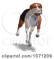 Clipart 3d Austrian Black And Tan Hound Dog Running Royalty Free CGI Illustration by Ralf61