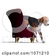 Clipart 3d Austrian Black And Tan Hound Dog Climbing Off Of A Chair Royalty Free CGI Illustration by Ralf61