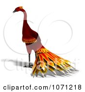 Clipart 3d Red Peacock Or Phoenix 3 Royalty Free CGI Illustration by Ralf61