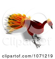 Clipart 3d Red Peacock Or Phoenix 6 Royalty Free CGI Illustration by Ralf61