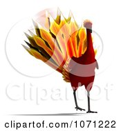 Clipart 3d Red Peacock Or Phoenix 2 Royalty Free CGI Illustration by Ralf61