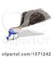 Clipart 3d Blue Peacock 7 Royalty Free CGI Illustration by Ralf61