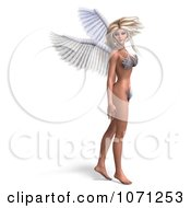Clipart 3d Angel Or Fairy Standing In A Bikini Royalty Free CGI Illustration