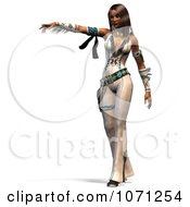 Clipart 3d Beautiful Native American Indian Woman Pointing Royalty Free CGI Illustration