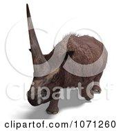3d Prehistoric Elasmotherium Steppe Rhiniceros Dinosaur 9