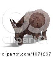 3d Prehistoric Elasmotherium Steppe Rhiniceros Dinosaur 2