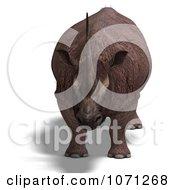 Clipart 3d Prehistoric Elasmotherium Steppe Rhiniceros Dinosaur 1 Royalty Free CGI Illustration