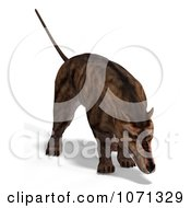 Clipart 3d Prehistoric Andrewsarchus Mongoliensis Animal Sniffing 2 Royalty Free CGI Illustration