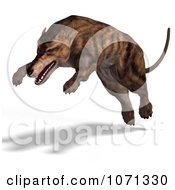 Clipart 3d Prehistoric Andrewsarchus Mongoliensis Animal Pouncing 1 Royalty Free CGI Illustration