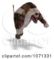 Clipart 3d Prehistoric Andrewsarchus Mongoliensis Animal Pouncing 2 Royalty Free CGI Illustration