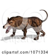 3d Prehistoric Andrewsarchus Mongoliensis Animal Growling