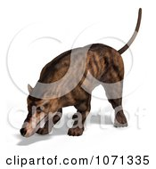 Clipart 3d Prehistoric Andrewsarchus Mongoliensis Animal Sniffing 1 Royalty Free CGI Illustration