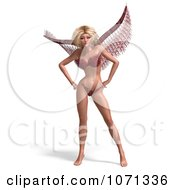 Clipart 3d Angel Or Fairy Standing In A Red Bikini Royalty Free CGI Illustration by Ralf61
