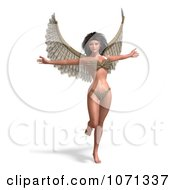 Clipart 3d Angel Or Fairy Standing On One Leg In A Bikini Royalty Free CGI Illustration by Ralf61