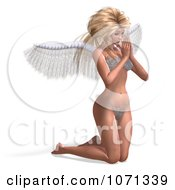 Clipart 3d Angel Or Fairy Kneeling And Praying In A Bikini Royalty Free CGI Illustration by Ralf61