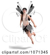 Clipart 3d Romance Love Fairy Flying 3 Royalty Free CGI Illustration