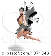 Clipart 3d Romance Love Fairy Flying 4 Royalty Free CGI Illustration