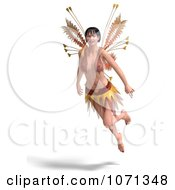 Clipart 3d Romance Love Fairy Flying 2 Royalty Free CGI Illustration