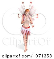 Clipart 3d Romance Love Fairy Grasping Her Chest Royalty Free CGI Illustration