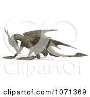 Clipart 3d Fantasy Sandstone Gargoyle Statue 15 Royalty Free CGI Illustration