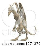 Clipart 3d Fantasy Sandstone Gargoyle Statue 13 Royalty Free CGI Illustration