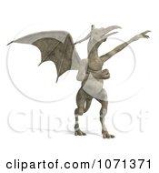 Clipart 3d Fantasy Sandstone Gargoyle Statue 14 Royalty Free CGI Illustration