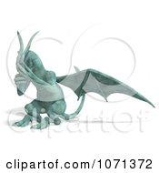 Clipart 3d Fantasy Sandstone Gargoyle Statue 12 Royalty Free CGI Illustration