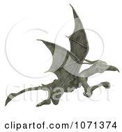 Clipart 3d Fantasy Sandstone Gargoyle Statue 10 Royalty Free CGI Illustration