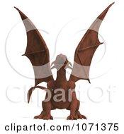 Clipart 3d Fantasy Sandstone Gargoyle Statue 8 Royalty Free CGI Illustration
