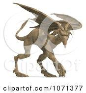 Clipart 3d Fantasy Sandstone Gargoyle Statue 7 Royalty Free CGI Illustration