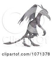 Clipart 3d Fantasy Sandstone Gargoyle Statue 6 Royalty Free CGI Illustration