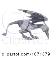 Clipart 3d Fantasy Sandstone Gargoyle Statue 5 Royalty Free CGI Illustration